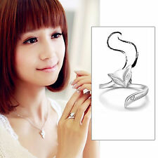Solid 925 silver ring women's charm Fox rings fashion jewelry Xmas Gift size 7