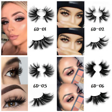 6D Mink 25mm Natural Thick False Fake Eyelashes handmade Lashes Makeup Extension