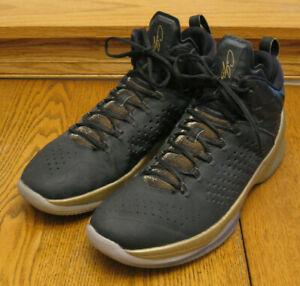"Nike Air Jordan ""Melo M11"" black & metallic gold SNEAKERS / BASKETBALL SHOES 13"