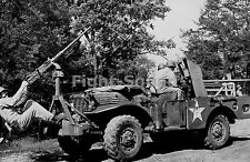 WW2 Picture Photo 1943 37 mm and .50 cal mounted on M6 Gun Motor Carriage 1658