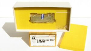 ORIENTAL LIMITED AJIN BRASS HO SCALE GREAT NORTHERN WATER CAR X-3207, BOXED