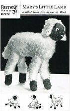 Lamb toy  knitting pattern. Laminated copy.