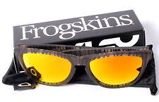Oakley Urban Jungle Frogskins w/ Custom Fire Red Orange Mirror Polarized Lenses