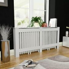 vidaXL Radiator Cover White MDF 172cm Heating Appliance Accessory Wall Cabinet