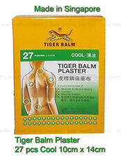Tiger Balm Plaster (Cool) Plasters 27 pcs 10cm x 14cm Free Registered Post