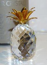 SWAROVSKI Ananas Groß Goldene Blätter  Large Pineapple Gold Leaves  TOP OVP MIB