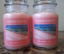 Yankee Candle   Paradise Sands  22 oz   Lot of 2 NEW.Candles   Free Shipping