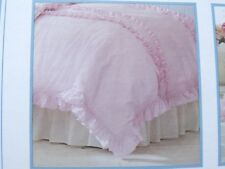 Simply Shabby Chic Twin Duvet Pink Ruffled Case Pillow Sham Ashwell Cottage NIP