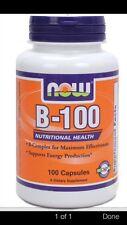 B-100 Caps 100 Caps, New  Vitamin B-Complex Free 1st class fast shipping