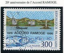 TIMBRE FRANCE OBLITERE N° 3003 ACCORD RAMOGE / Photo non contractuelle