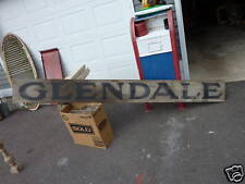 "antique 19th century 8.5' GLENDALE sign primtive rustic 11""h"