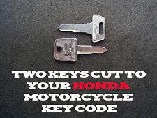 Honda Motorcycle, ATV, SXS, Scooter Key Keys Cut By Code - 2 Working Keys