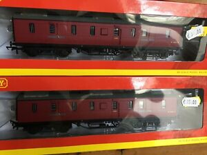 Pair of Hornby BR Parcel Vans (ex LMS) OO Boxed Excellent New