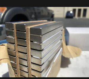 "2 Neodymium 3"" x 1/2"" x 1/4"" Bar Magnets Super Strong Magnet N42 USA Seller"