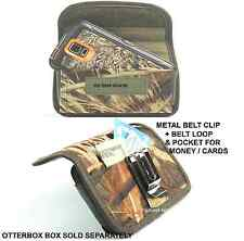 (A26) Rugged Horizontal Holster w/Metal Clip Nokia Lumia 520 FOR Otterbox Case