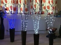 Wedding Decoration LED Twigs in Various colours-Blue/White LED for use in venue
