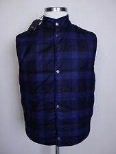 PAUL SMITH gilet quilted woven wool plaid Italy mens authentic Size Medium NWT