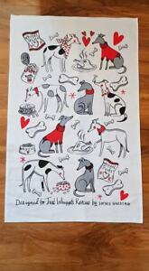 Just Whippets Tea Towel