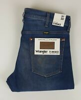 Mens Wrangler Icons Jeans W31 L30 Slim Straight Fit Stretch Blue Distressed BNWT