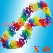 LOT DE 48 COLLIERS HAWAIEN,Aloha,Bienvenue,Hawai,Fleurs,Accessoire,Déguisement,