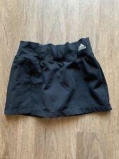 Adidas Tennis Running Skirt Skort W/Shorts Black Climalite
