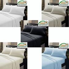 1 Flat Sheet & 2 Pillowcase Egyptian Cotton 1000-TC All USA Size & Multi Colors