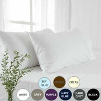 1000TC Ultra-Soft Pillowcases Set European/Standard/Queen/King/Body