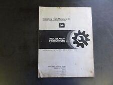 John Deere Installing High-Moisture Kit Manual