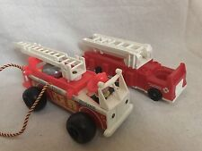 Fisher Price Vintage Toy Fire Trucks Lot