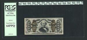 1864-69  50 CENT FRACTIONAL CURRENCY FR-1333  PCGS CHOICE UNCIRCULATED-64-PPQ