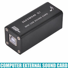 1PC  EXTERNAL USB SOUND CARD Q1 For Notebook PC Computer Portable AUDIO HiFi