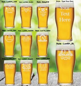 Personalised Pint Glass Engraved Fathers Day Birthday Best Man Beer Glass Party