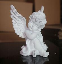 Cherub Statue Angel Wings Figurine Home Garden Decor Gift Outdoor Yard White