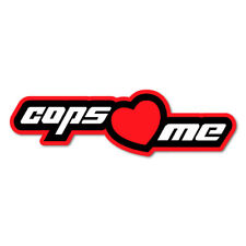 COPS LOVE ME JDM Sticker Decal Drift Jap Car  #0923