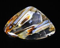 17 Ct Superb Natural Turkey Pseudomorph Stick Agate Pear Cabochon Gemstone A301