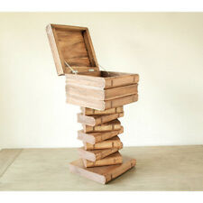 Book Stack cube side table Storage lamp table stool wood coffee table 74cm high