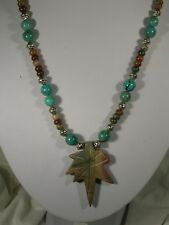"20"" Red Creek Jasper & Turquoise Bead Necklace"