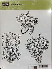 Stampin Up MARKET FRESH Clear mount stamps Fruit Thanks Celebrate Grapes