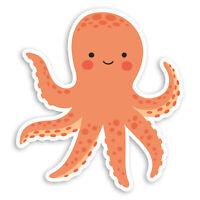 2 x 10cm Cute Octopus Vinyl Stickers - Kids Funny Cartoon Laptop Sticker #20953