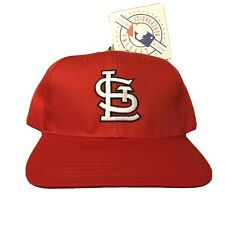 Vtg NWT St Louis Cardinals Snapback Hat Cap 90s STL Red Jersey Logo Great Fit!