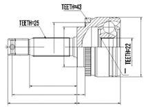 GELENKSATZ ÄUSSER MITSUBISHI SPACE STAR 1.3 98-, 1.6 01-