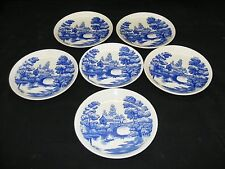 Nasco Lakeview Handpainted Set of 6 Bread Plates