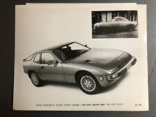 1981 Porsche 924 Turbo Coupe B&W Press Photo Factory Issued RARE!! Awesome L@@K