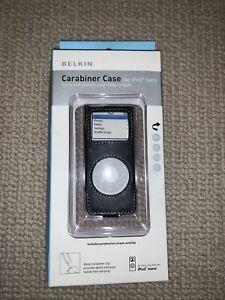 Carabiner Case for iPod Nano Belkin brand new in Fine Grain Black Leather