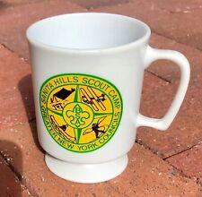 Vtg Mug Sanita Hills Scout CAMP Greater New York Council Cup Plastic Pedestal