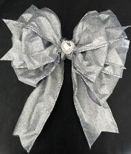 Fabric Bow Christmas Tree Ornaments