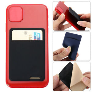 Universal Phone Wallet Case Stick On ID Credit Card Holder  Self-Adhesive UK