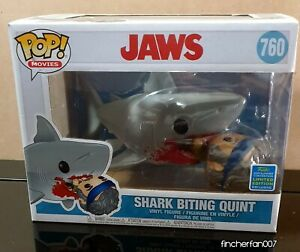 JAWS - Shark Biting Quint - SDCC Exclusive POP Vinyl  (760) - Vaulted