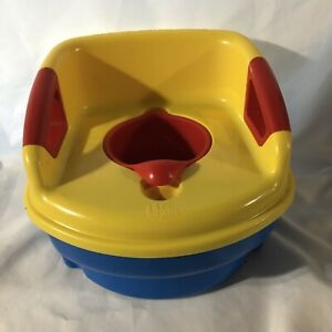 The First Years Potty Chair Easy to Clean Sturdy Red Yellow Blue Lightly Used
