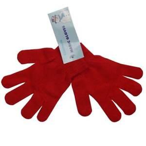 Kids Magic Gloves Boys Girls Children Winter One-Size Stretch Black + Colours